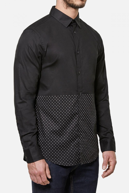 Robert Geller Linus Long Sleeve Shirt - Black   Five Four Club