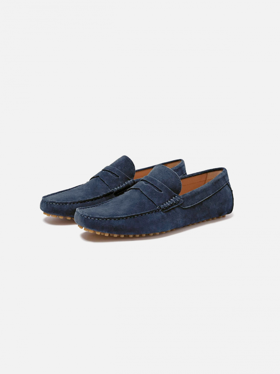 barclay suede driver - navy