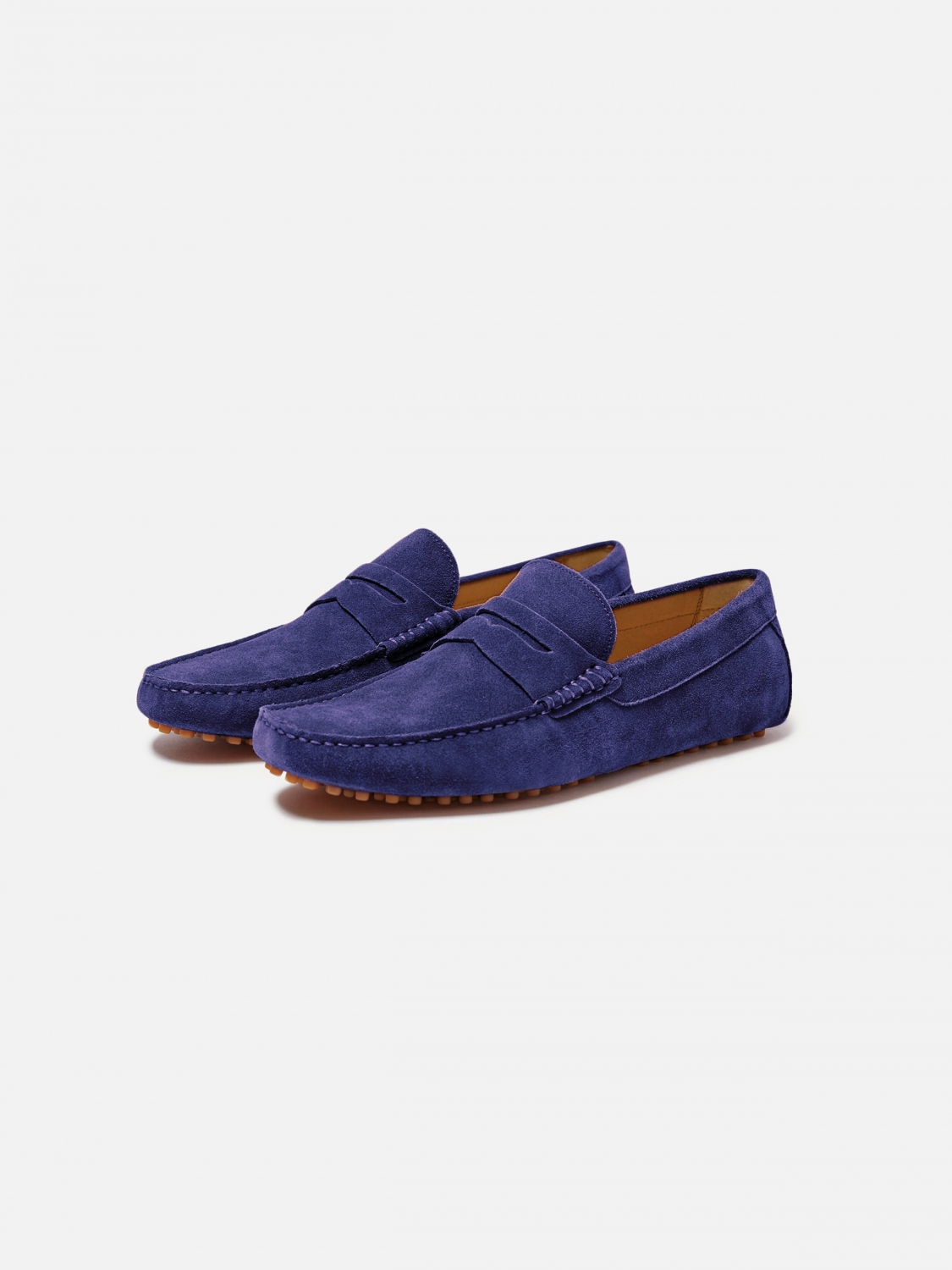 barclay suede driver - purple