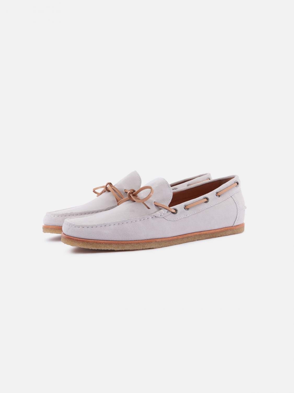 flynn boat shoe - off white