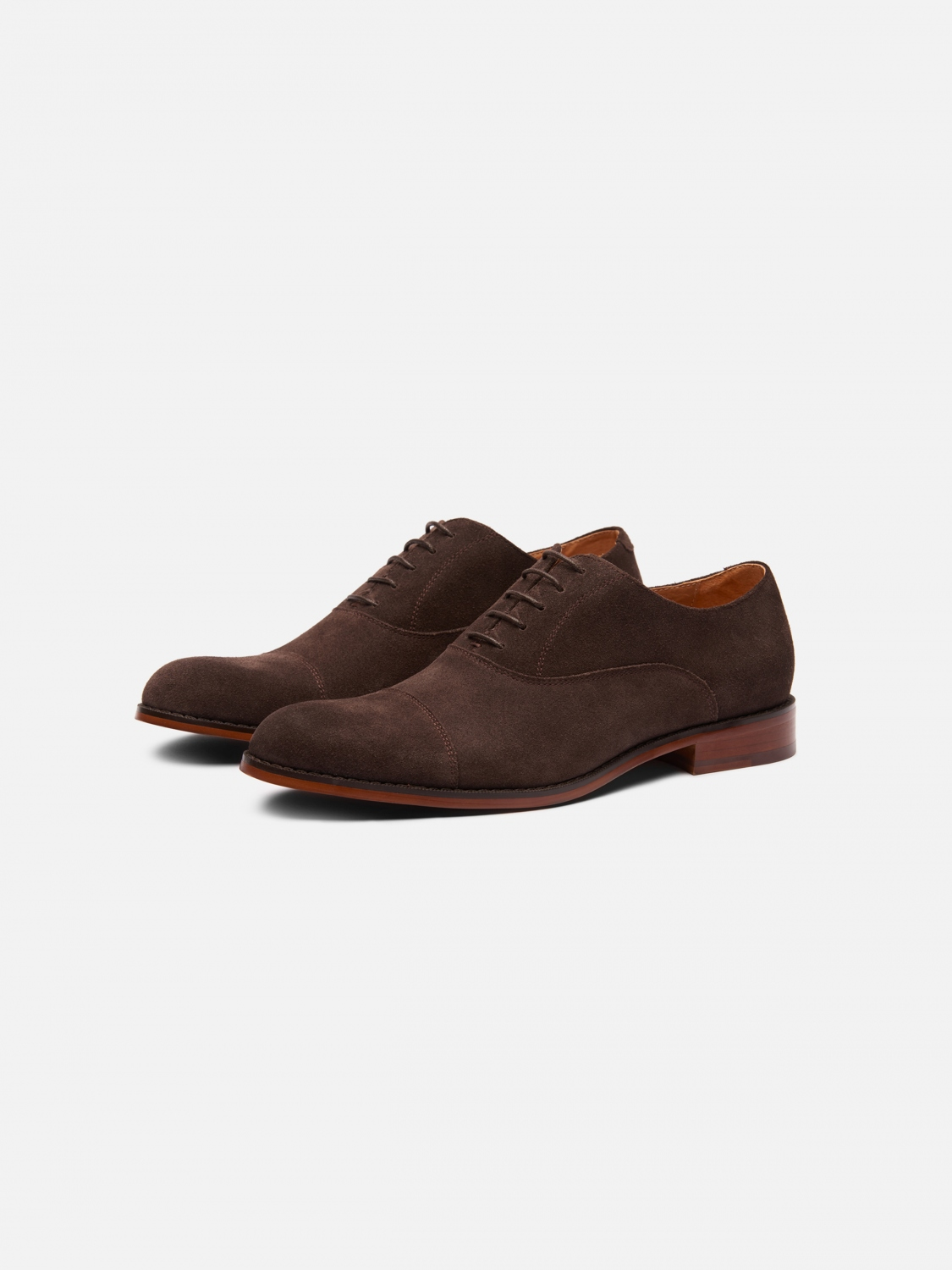 mason suede cap toe - brown