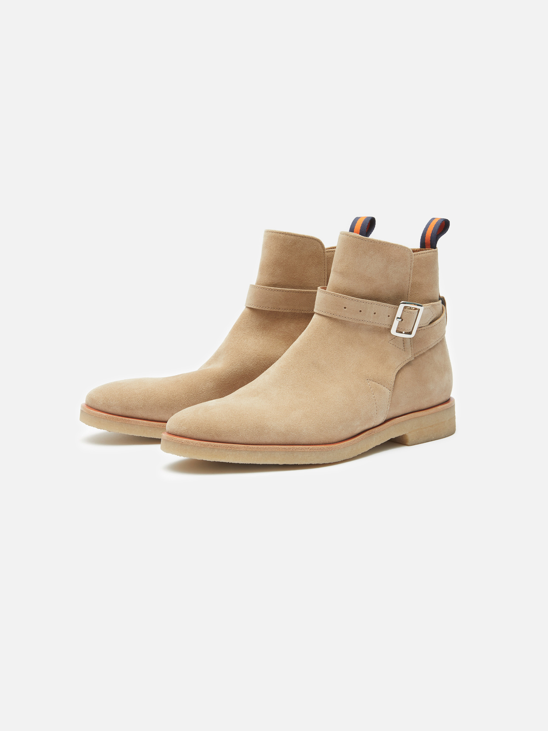 49e8edbcb23ed Carl Suede Belted Boot - Sand   Menlo House