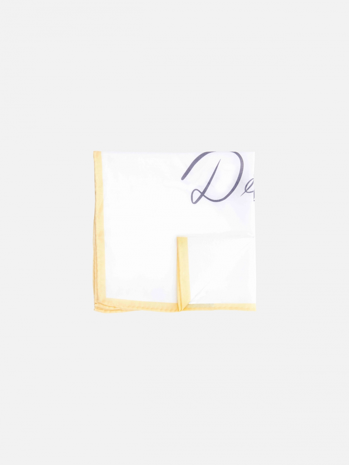 mister dean quigley pocket square - yellow